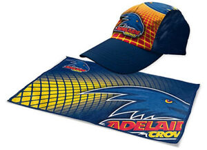 Adelaide Crows Sports Pack | Gym Towel & Cap | AFL Aussie Rules