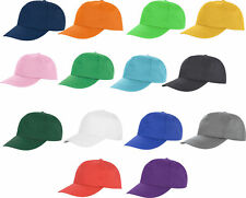 US Mens Womens Ladies Baseball Cap Brushed Cotton Plain Sports Summer Hat