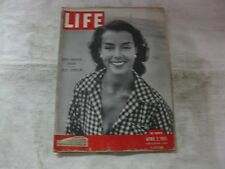 Life Magazine April 2nd 1951 Riviera Beba Spradling Published By Time      mg431