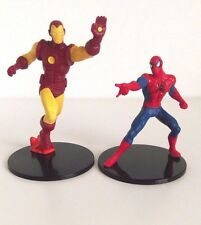 Disney Store Spider-Man And Iron Man Figurine Cake Topper Toy Marvel Spiderman