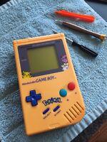 Original Gameboy Yellow Blue Shell Pokemon Lens Tetris Nintendo DMG-01