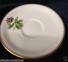 ROYAL WORCESTER WILLIAMSON FLOWER ONLY SAUCER FOR FOOTED CUP COLUMBINE GOLD TRIM