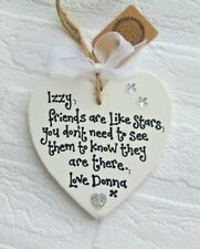 Best Friend Gift Handmade & Personalised 'Friends are like Stars' Heart Plaque