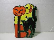 Beistle Gestanzt Karton Schwarze Katze & Jack O Laterne Halloween Dekoration