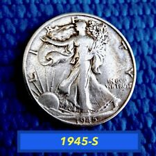 1945-S  WALKING LIBERTY HALF DOLLAR  ⭐️  CIRCULATED  ⭐️  (#1330)