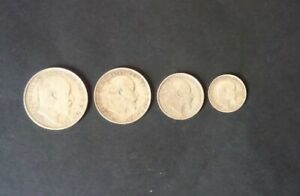 Maundy Money cased complete set 1904 Edward V11 silver coins