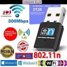 300Mbps USB WiFi Wireless Adapter Dongle For PC,Laptop,Windows XP,Vista,Linux,OS