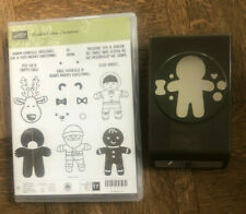 Stampin Up retired, COOKIE CUTTER Stamp set & Punch Bundle Christmas