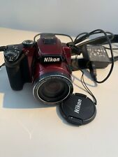 Nikon COOLPIX P500 12.1 MP Digital Camera - Red EXCELLENT TESTED w/charger