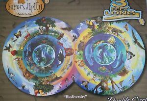 "Serendipity 800 Piece Biodiversity Double Circle 3' Jigsaw Puzzle 19.25"" X 34"""