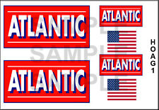 NEW PEEL AND STICK HO SCALE ATLANTIC GASOLINE DIORAMA TRUCK MODEL DECALS HOAG1