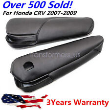 Leather Front Seat Armrest Replacement Cover fit for Honda CRV 2007-09 Black US