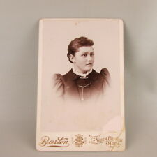 VTG Antique Studio Photo Cabinet Card Young Woman North Branch MN Minnesota