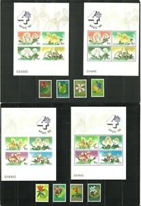 Stamps,Asia and Europa flowers,full mnh sets