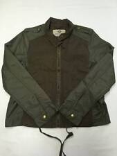 Womens LUCKY BRAND Green Zip Up KH1 Military Jacket Sz L NEW NWT $129