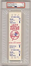 1977 World Series game 1 Ticket PSA