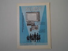 advertising Pubblicità 1960 TELEVISORE RADIO GELOSO