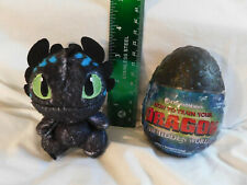 Rare BLUE Stripes Markings Baby TOOTHLESS in Black Egg How Train Yr Dragon 3