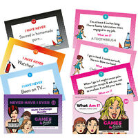 NEVER HAVE I EVER + WHAT AM I? GAMES BUNDLE Hen Party accessories Drinking Games
