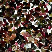 100.0% Natural Multi Colour Tourmaline Small Size Rocks / Rough Loose Gemstone