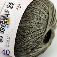 50g ball Thread No.8 Cotton Crochet Thread Yarn Craft Tatting Knit Embroidery10