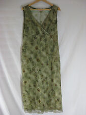 LOVELY SZ 10 NOBUE MESH GREEN DRESS DESIGNER