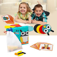 Baby Montessori Educational Toy Wooden Animal Stacking Blocks Early Learning Set
