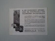 advertising Pubblicità 1936 ZEISS IKON SUPER NETTEL
