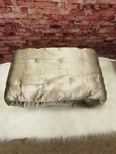 HUDSON PARK COLLECTION LUXE QUILTED FULL QUEEN COVERLET PIAZZA GOLD RAYON COTTON