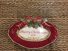 Fitz & Floyd Damask Holiday Merry Christmas 2018 Collector's Plate New In Box