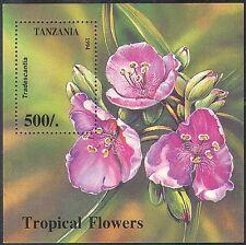 Tanzania 1994 fiori/Tradescantia/Piante/NATURA 1 V M/S (n13236)