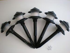 Original Lot of 5 TORO Style Landscape Walk Lights w/ 4 Watt Bulbs Brand New !!!