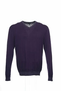 NWT Sons of Intrigue Purple Heather V-Neck Sweater L $58