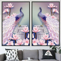 5D Peacock Diamond Painting Embroidery Cross Stitch Pictures Art Craft Kit Decor