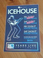 ICEHOUSE - 2017 AUSTRALIA Tour - Laminated Promo Tour Poster
