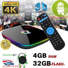 Q-Box Plus Quad Core 4GB+32GB Android 8.1 TV 4K HD Smart Media Player WI-FI HDMI