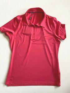 Under Armour Golf Polo Shirt Women's Medium Sun Protection Gala Pink