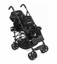 Kinderwagon HOP Tandem Double Umbrella Stroller in Black Brand New! Open Box