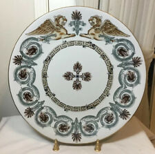 New listing 18� Chinese Dragon & Cross Porcelain Plate. 8.5 Pounds.
