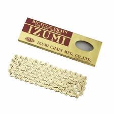 """Izumi Standard Gold Track / Fixie Bike Chain 1/8"""". Quality Japanese Chain 116L"""