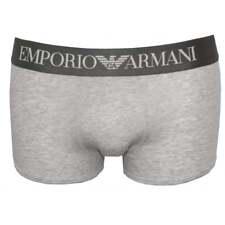 Emporio Armani Premium Stretch Cotton Boxer Trunk, Marl Grey