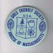 1978 pin GIRLS FRIENDLY SOCIETY pinback ANGLICAN CHURCH Massachusetts DIOCESE