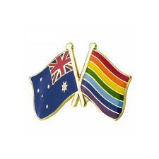 Australie & Gay Pride Rainbow Drapeau Émail Pins Broche Badge / Broche Lgbt Paix