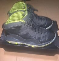 Nike Air Jordan 10 Retro Venom Black Bolt Size 6.5