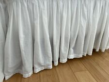 New listing Voile Cotton Bedskirt Pottery Barn White King 15 Inches.