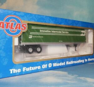 BRAND NEW ATLAS O GAUGE # 6991-4 BURLINGTON NORTHERN 45' PINES VAN TRAILER * MIB