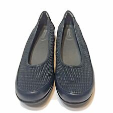 Foot Smart Stretchables Womens Blue Slip On Shoes Size 9W Comfort