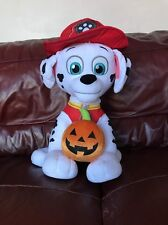 "Paw Patrol Marshall with Pumpkin Halloween Decoration Toy For Kids 23"" (117)"