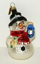 Snowman Discovery Channel Glass Christmas Ornament Germany
