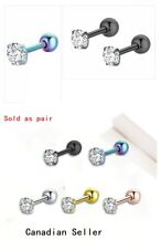 Pair Crystal Cartilage Earring Helix ear Piercing  man woman fashion accessories